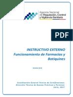 INSTRUCTIVO EXTERNO Funcionamiento de Farmacias y Botiquines