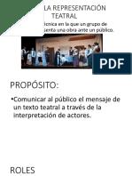 Diapositivas Sobre La Representación Teatral