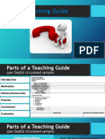 PARTS OF TEACHING GUIDE IN SENIOR HIGH SCHOOL