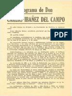 Carta Programa de Carlos Ibáñez