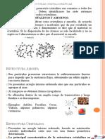 I. Estructuras Cristalinas