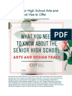 Arts and Design tracks