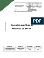 Manual de Prácticas de Laboratorio de Mecánica de Suelos