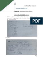 Actividad 03 - Matemática Superior