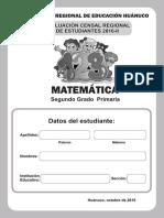 A. ECER 2016-II Matematica 2° Primaria