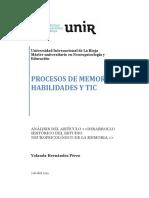 Actividad 1. Articulo Desarrollo Historico de La Memoria