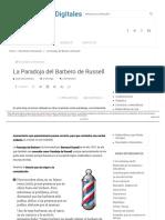 La Paradoja Del Barbero de Russell - Matemáticas Digitales