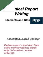 Lec 4 Technical Report Elements