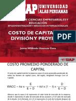 Semana 14 Sesion 14 Costo de Capital Por División y Proyecto