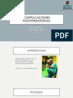Complicaciones Cirugia Abdominal