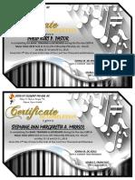 Music Clinic Cert 1
