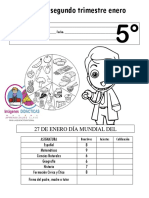 Examen Mensual 5to Grado Examen Mensual 2018 2019