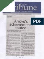 Daily Tribune, June 6, 2019, Arroyo's achievements touted.pdf