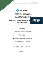 Laboratorio 6 - Mecanica de Fluidos