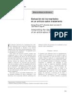 EVALUACION DE LOS RESULTADOS EN UN ARTICULO SOBRE TRATAMIENTO.pdf