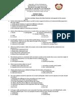 Grade 10 - Earth Science First Quarter Examm,,