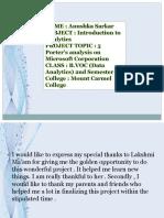 Microsoft 5 Porter Analysis