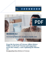 A Message From VA Secretary Wilkie on MISSION Act