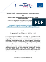 Joint Conference DanuBioValNet + PA8 EUSDR- Draft Agenda