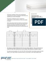 Datasheet PTFE Sheet