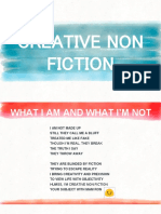 CNF- Definition of Creative Non Fiction