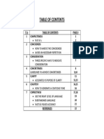7 Cs Table of Contents