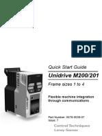 Frequentieregelaars Unidrive m200 m201 Quick Start Guide en Iss7 0478 0038 07