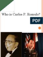 Carlos p. Romulo 1