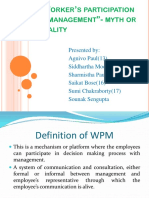 Worker's Participation in Management