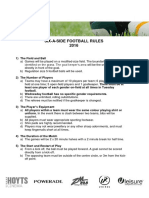 Six a Side Football Rules 2016