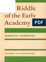 Harold Cherniss, The Riddle of the Early Academy