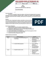 FMP 1 Syllabus