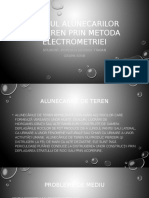 Studiul Alunecarilor de Teren Prin Metoda Electrometriei