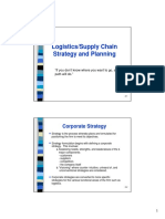 Logistic Strategy and Planning