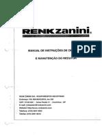 Manual Redutor Acionamento Difusores Fase 1 e 2 - Renk Zanini