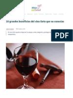 10 Grandes Beneficios Del Vino Tinto Que No Conocías – Mejor Con Salud