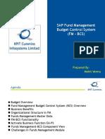 SAP Fund Management Budget Control System