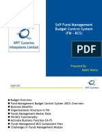 SAP Fund Management Budget Control System