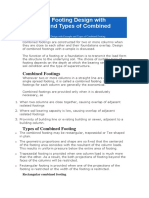 Combined Footing Design with Example and Types of Combined Footing.docx