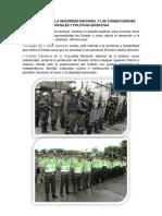 La Doctrina de La Seguridad Nacional y Las Consecuencias Sociales y Políticas en Bolivia