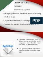 Corporate Governance in Uganda
