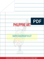 Philippine Art MAJORSHIP IN LET