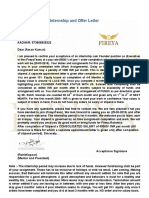 offer letter of aman chutiya