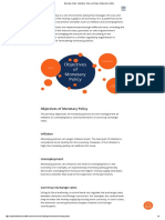 Monetary Policy - Objectives, Tools, And Types of Monetary Policies