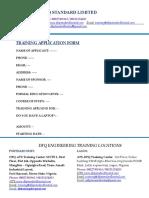 Training Form (Dfq Standard Limited)