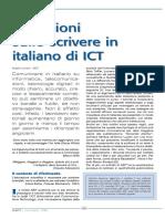 Riflessioni sullo scrivere in italiano di ICT
