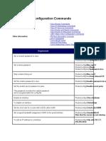 Cisco Router Configuration Commands