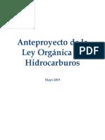 Anteproyecto Ley de Hidrocarburos Dip. Luis Estefanelli 05-06-2019