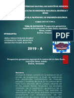 Prospección Geoquímica Regional de La Cuenca Del Rio Hato Sucio, Municipio Heres, Estado
