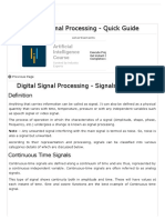 Digital Signal Processing Quick Guide